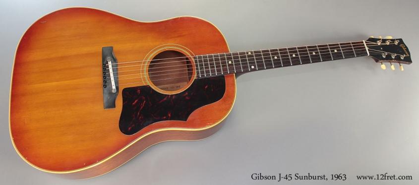 Gibson J-45 Sunburst, 1963 full front view