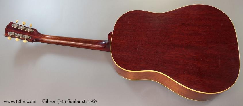 Gibson J-45 Sunburst, 1963 full rear view