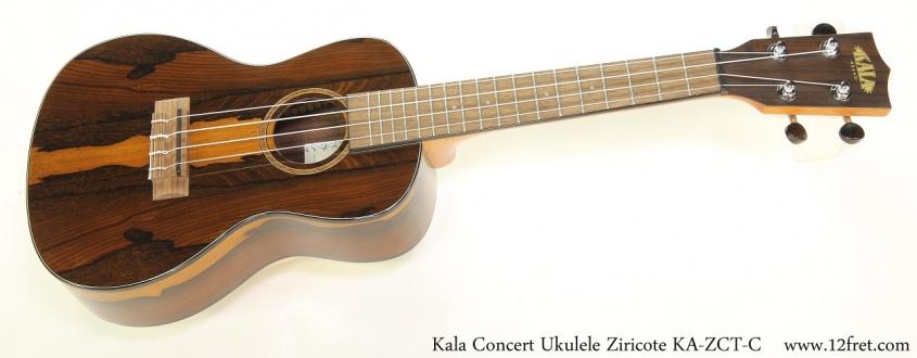 Kala Concert Ukulele Ziricote KA-ZCT-C    Full Front View