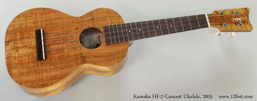 Kamaka HF-2 Concert Ukulele, 2005 Full Front View