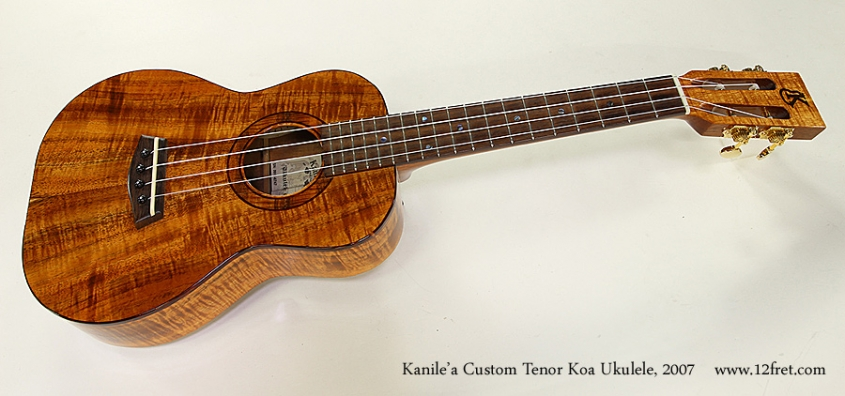 Kanile'a Custom Tenor Koa Ukulele, 2007 Full Front View
