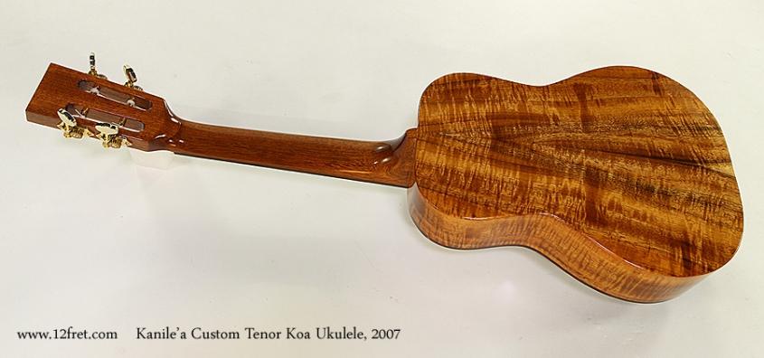 Kanile'a Custom Tenor Koa Ukulele, 2007 Full Rear View