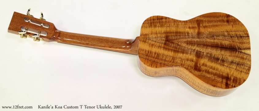 Kanile'a Koa Custom T Tenor Ukulele, 2007 Full Rear View
