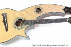 Tony Karol Belair Harp Guitar Natural, 2021 Full Front View