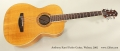 Anthony Karol Parlor Guitar, Walnut, 2002 Full Front View