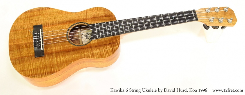 Kawika 6 String Ukulele by David Hurd, Koa 1996  Full Front View