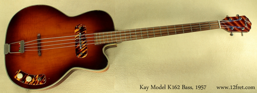 Kay Model K162 Hollowbody Bass 1957 full front
