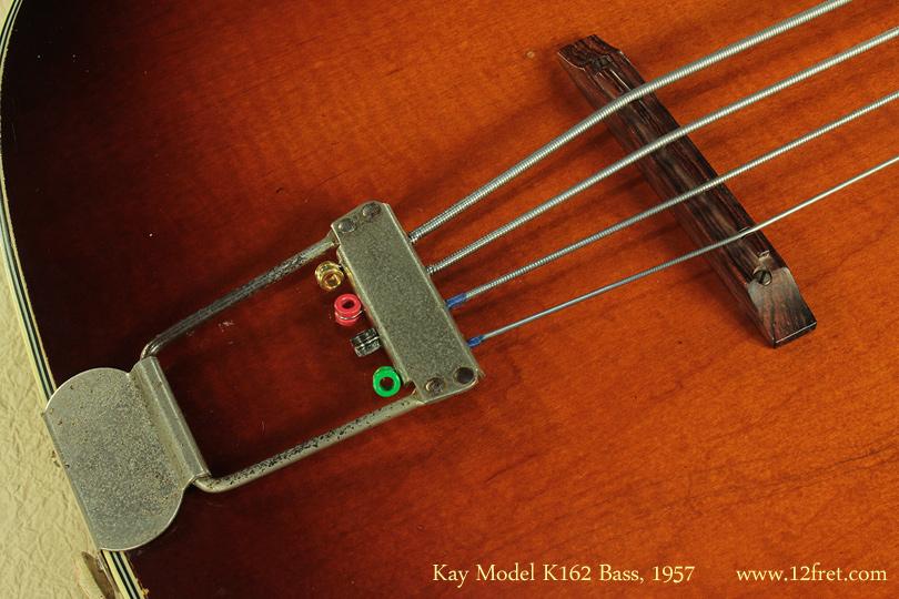 Kay Model K162 Hollowbody Bass 1957 bridge