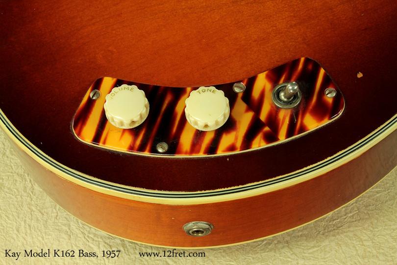 Kay Model K162 Hollowbody Bass 1957 controls