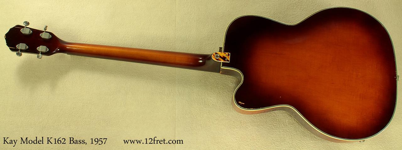 Kay Model K162 Hollowbody Bass 1957 full rear