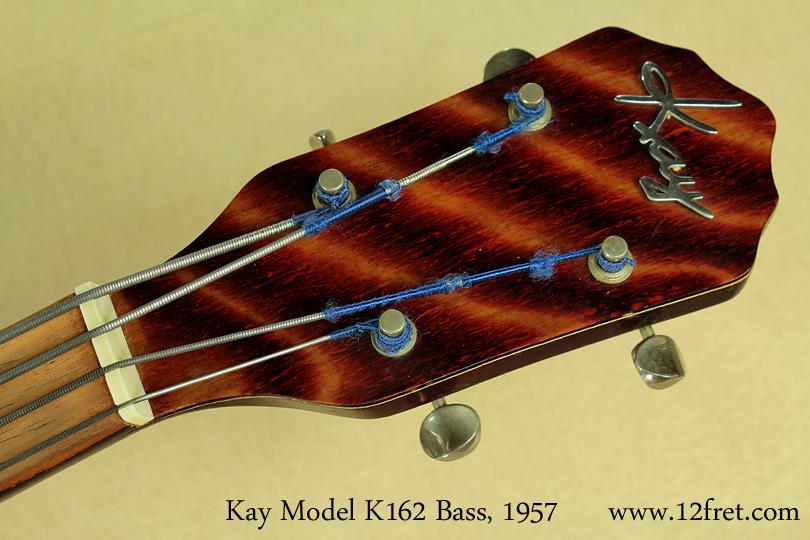 Kay Model K162 Hollowbody Bass 1957 head front