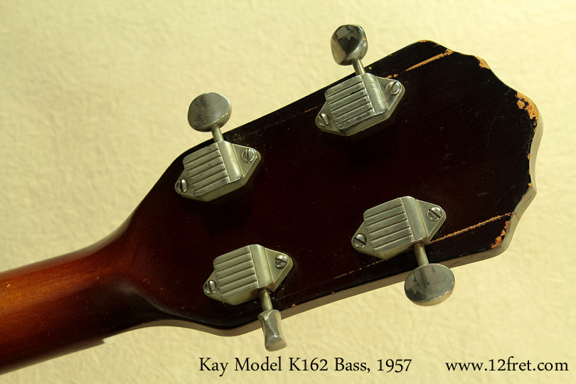 Kay Model K162 Hollowbody Bass 1957 head rear