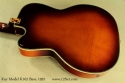 Kay Model K162 Hollowbody Bass 1957 back