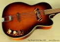 Kay Model K162 Hollowbody Bass 1957 top