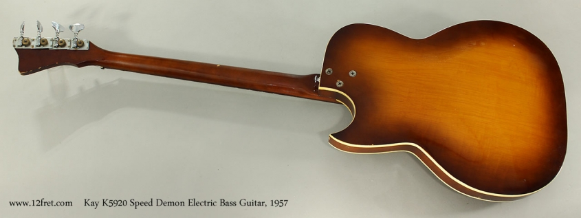 Kay K5920 Speed Demon Electric Bass Guitar, 1957 Full Rear View