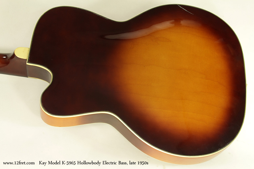 Kay Model K5965 Hollowbody Bass Guitar Late 1950s back