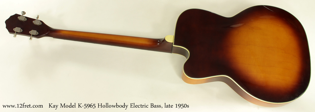 Kay Model K5965 Hollowbody Bass Guitar Late 1950s full rear view
