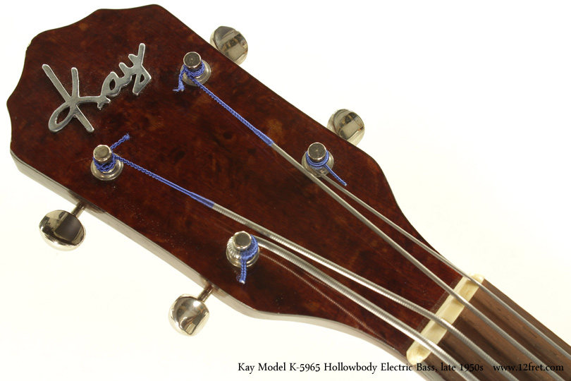 Kay Model K5965 Hollowbody Bass Guitar Late 1950s head front view