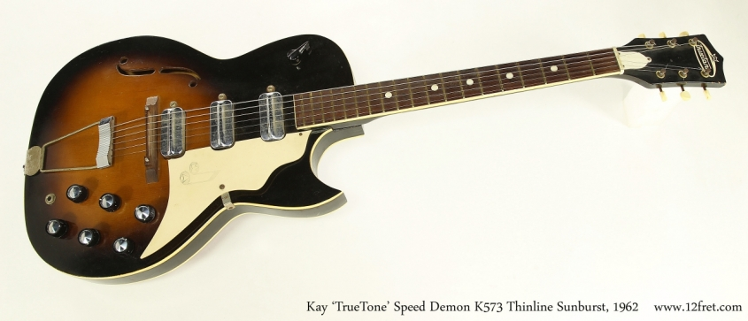 Kay 'TrueTone' Speed Demon K573 Thinline Sunburst, 1962  Full Front View