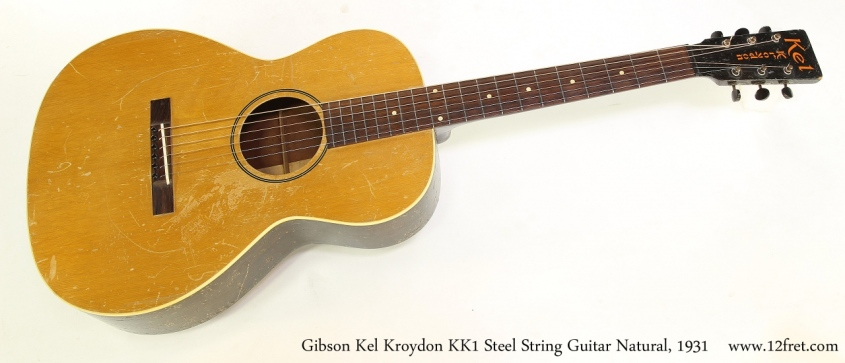 Gibson Kel Kroydon KK1 Steel String Guitar Natural, 1931 Full Front View