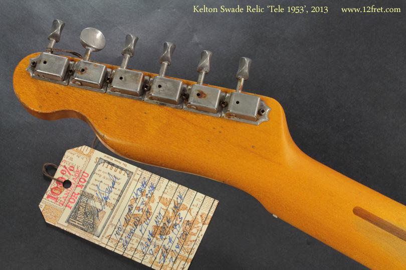 Kelton Swade Relic Tele 1953, 2013 full rear view