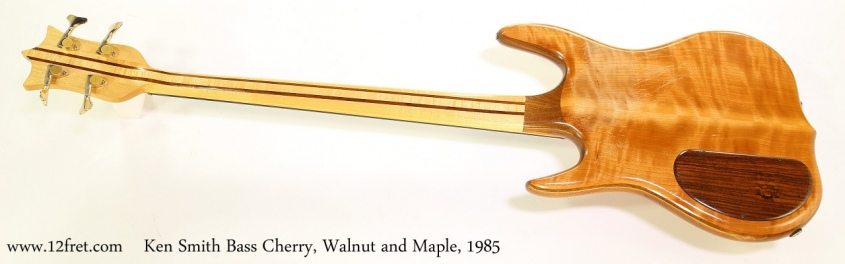 Ken Smith Bass Cherry, Walnut and Maple, 1985  Full Rear View
