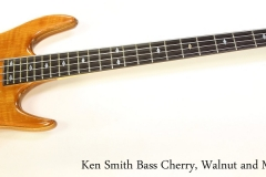 Ken Smith Bass Cherry, Walnut and Maple, 1985   Full Front View