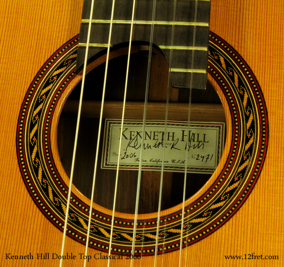 kenneth hill doubletop classical 2006 label