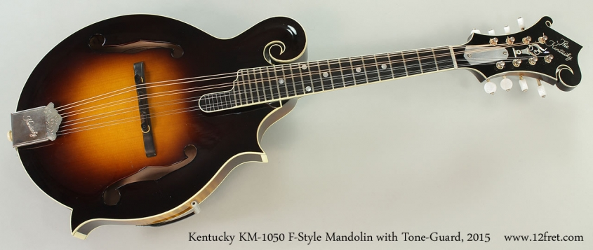Kentucky KM-1050 F-Style Mandolin with Tone-Guard, 2015 Full Front View
