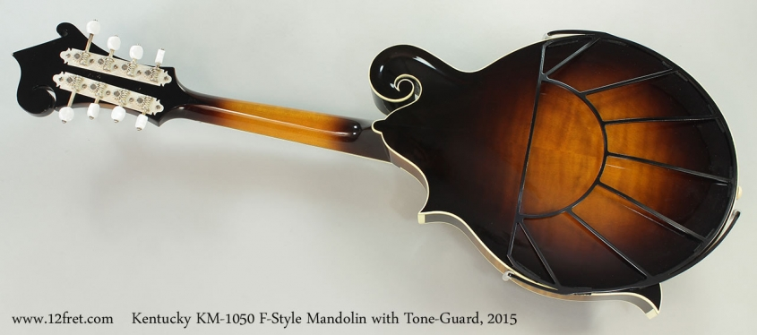 Kentucky KM-1050 F-Style Mandolin with Tone-Guard, 2015 Full Rear View