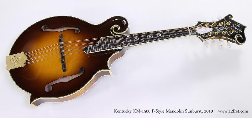 Kentucky KM-1500 F-Style Mandolin Sunburst, 2010 Full Front View