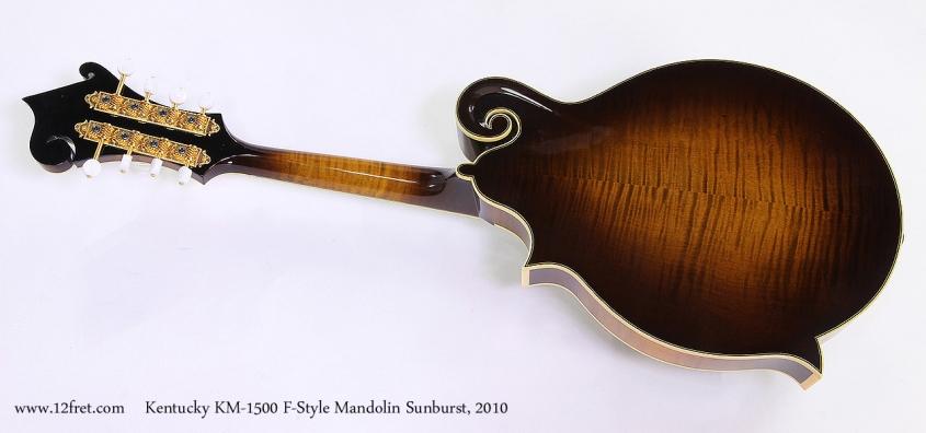 Kentucky KM-1500 F-Style Mandolin Sunburst, 2010 Full Rear View