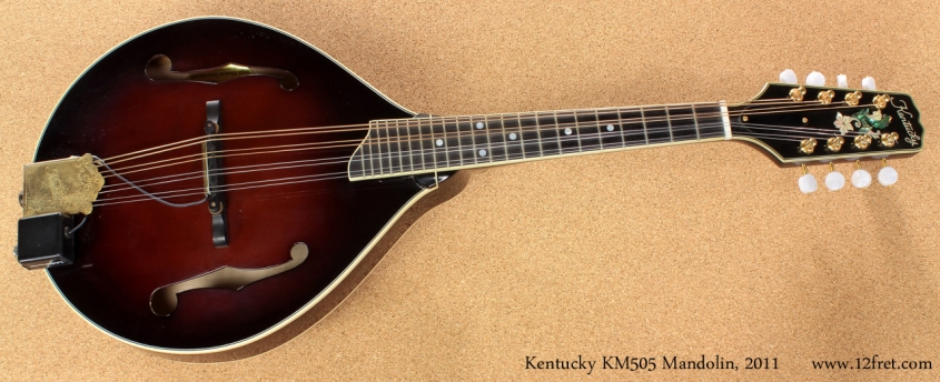 Kentucky KM505 A-Style Mandolin full front view