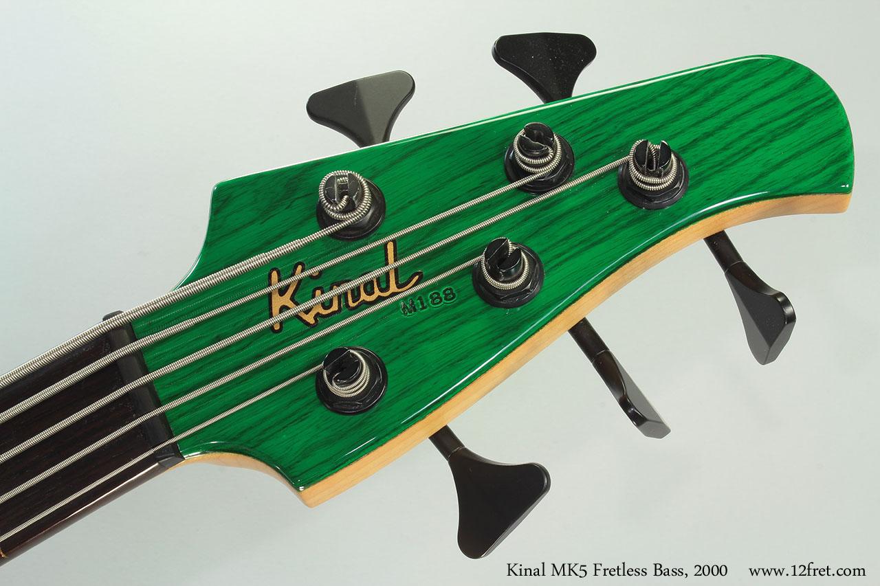 Kinal MK5 Fretless Bass, 2000 Head Front