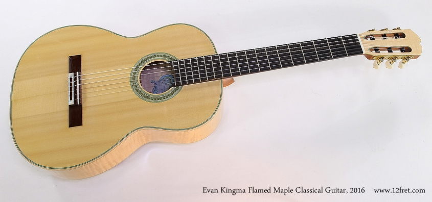 Evan Kingma Flamed Maple Classical Guitar, 2016 Full Front View