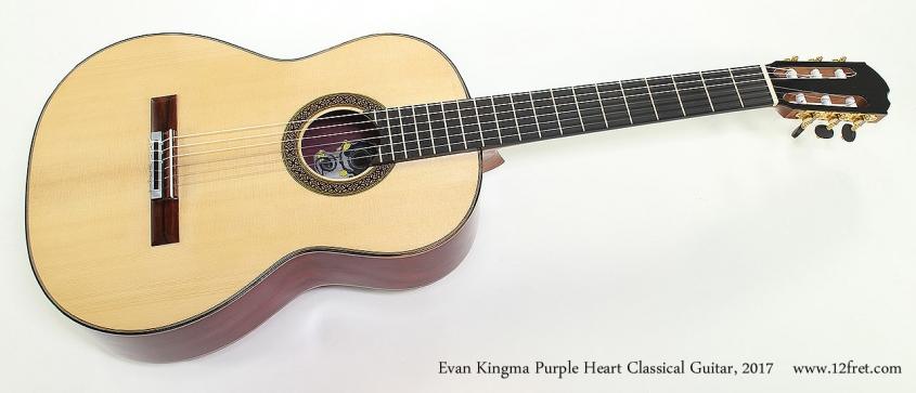 Evan Kingma Purple Heart Classical Guitar, 2017 Full Front View