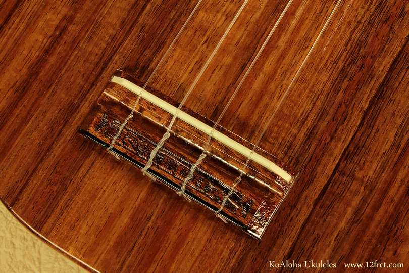 KoAloha Ukuleles bridge