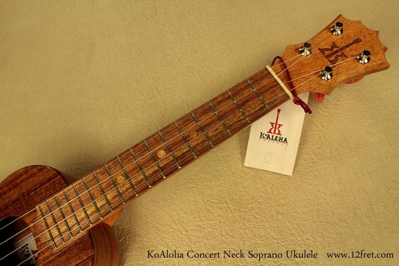 KoAloha Ukuleles concert neck