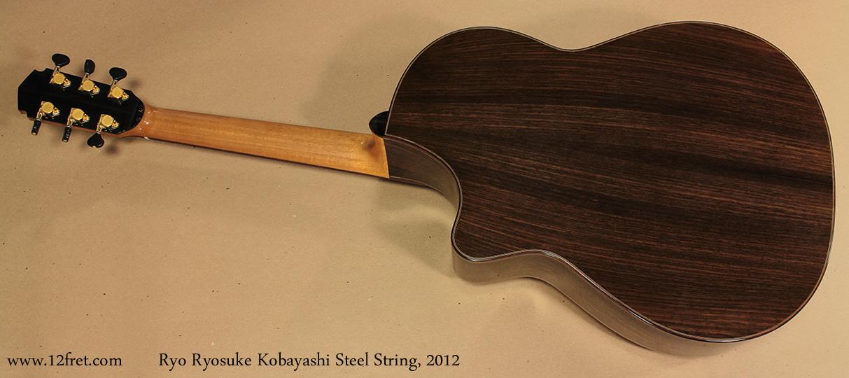 Ryo Ryosuke Kobayashi Steel String, 2012 full rear view