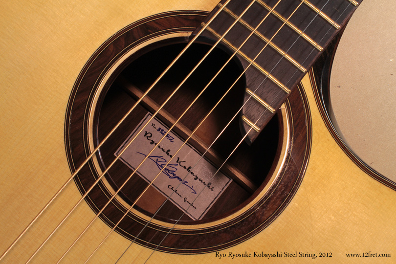 Ryo Ryosuke Kobayashi Steel String, 2012 label