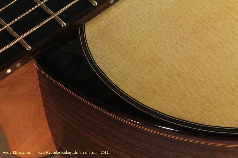 Ryo Ryosuke Kobayashi Steel String, 2012 purfling detail