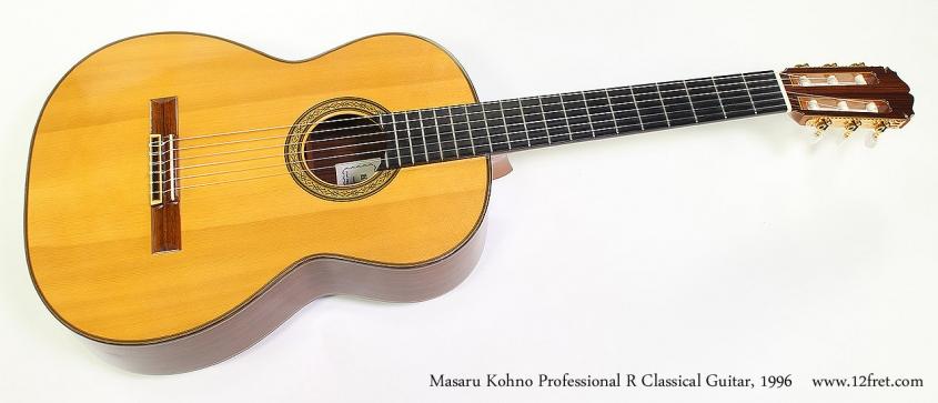 Masaru Kohno Professional R Classical Guitar, 1996 Full Front View