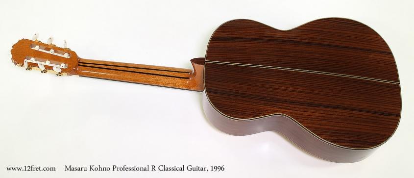 Masaru Kohno Professional R Classical Guitar, 1996 Full Rear View