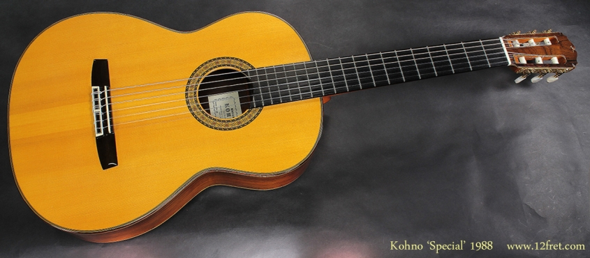 Masaru Kohno Special Classical Guitar 1988 full front view