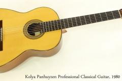 Kolya Panhuyzen Professional Classical Guitar, 1980   Full Front View