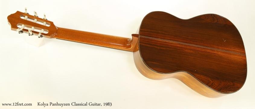 Kolya Panhuyzen Classical Guitar, 1983  Full Rear View