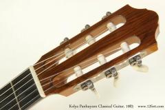 Kolya Panhuyzen Classical Guitar, 1983  Head Front VIew
