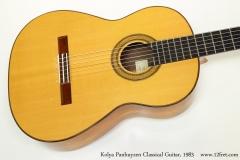 Kolya Panhuyzen Classical Guitar, 1983 Top View