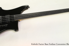 Kubicki Factor Bass Fretless Conversion Black, 1990  Full Front View