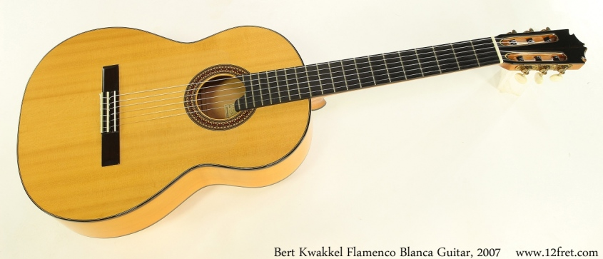 Bert Kwakkel Flamenco Blanca Guitar, 2007 Full Front View